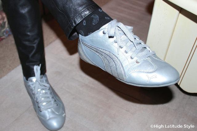 #trends knit footwear in trendy paisley look with sneakers