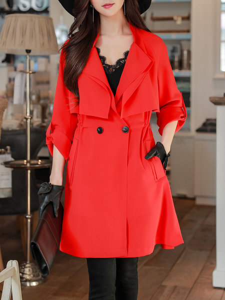 #trendsover50 #fashion red anorak trench coat