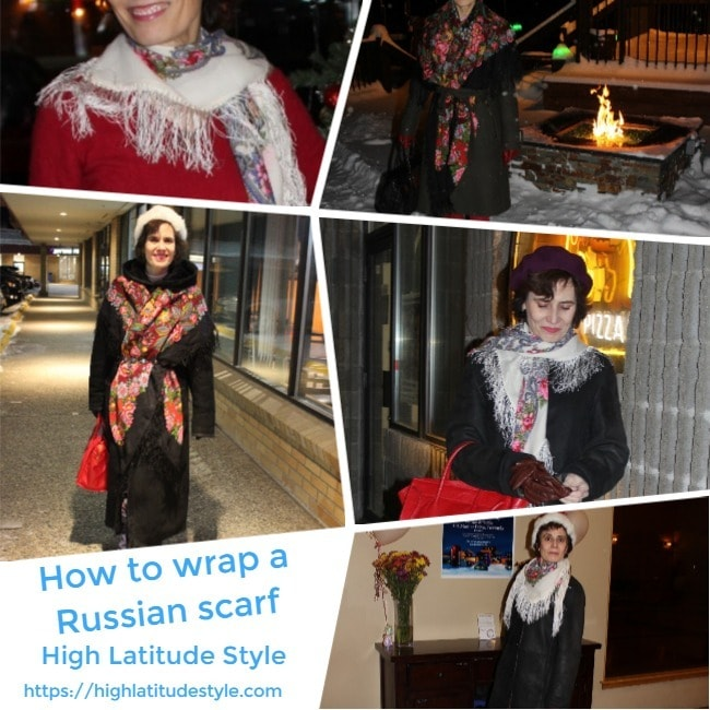#styleadvice how to wrap a Russian scarf inspiration sheet