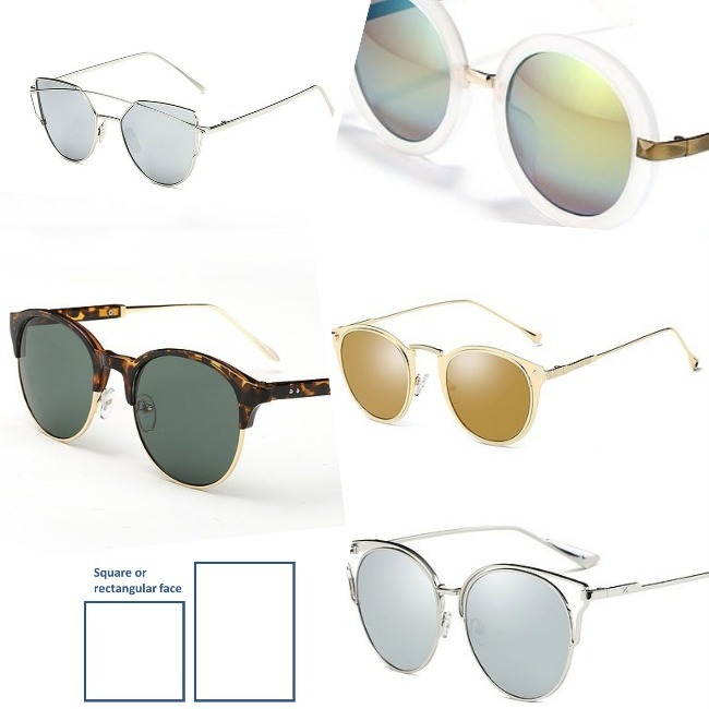 sunglasses frames for rectangular and square face type