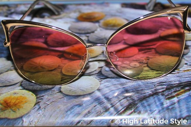 #accessories cool pink and green lenses in timeless frame