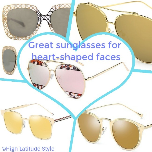 sunglasses that may look great on heart-shaped faces