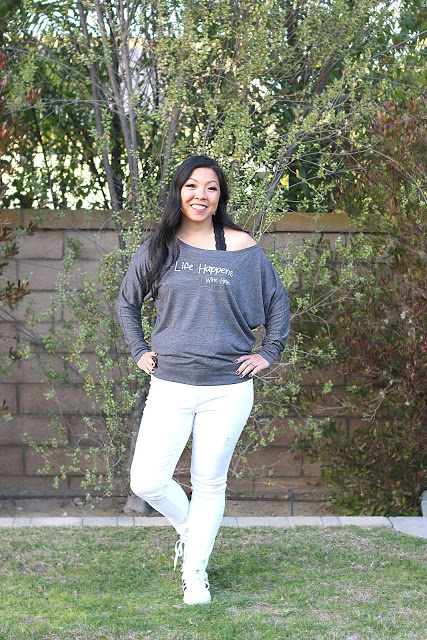 #linkup #DIYfashion top of the world style winner Sarah in a beautiful home-made tee