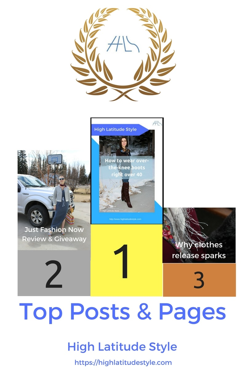 #fashionover50 Top posts and pages award banner showing the best posts