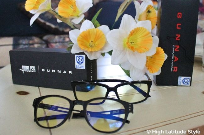 Gunnar computer glasses with boxes