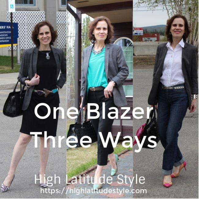 How to wear one blazer three ways