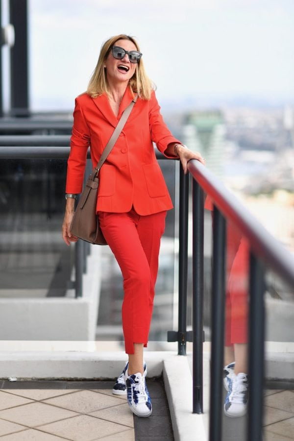 #linkup Top of the World Style OOTD My Fav Yvonne in orange pants suit