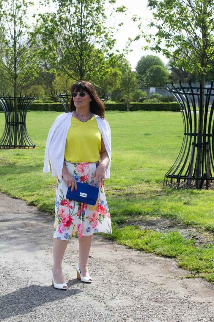 #linkup Top of the World Style OOTD Readers' Fav Jacqui ins floral skirt summer outfit