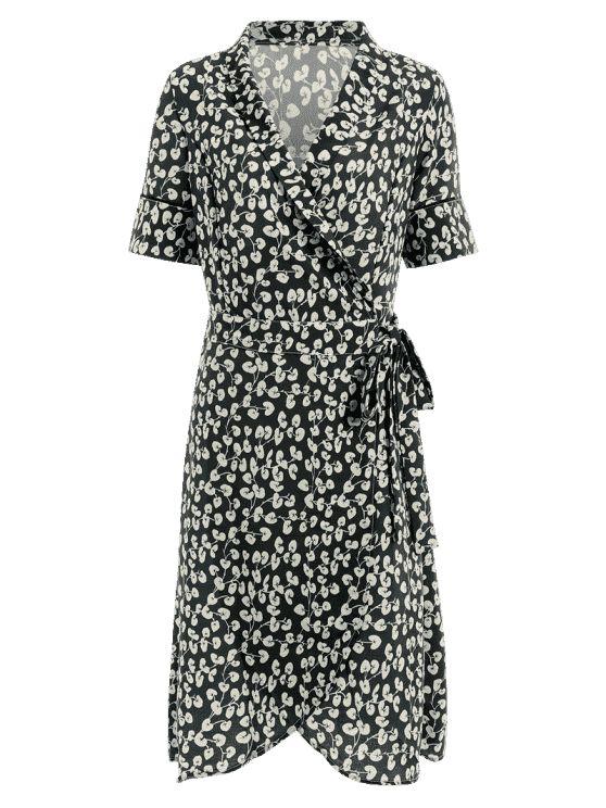 #styleonebudget classic posh black and white wrap dress