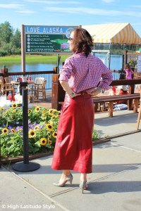 Whistle River gingham blouse review