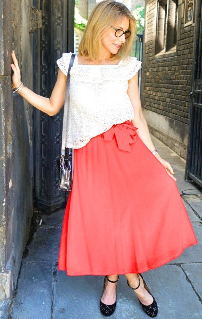 #fashionlinkup #styleover40 Maria became Top of the World OOTD Readers' Fav