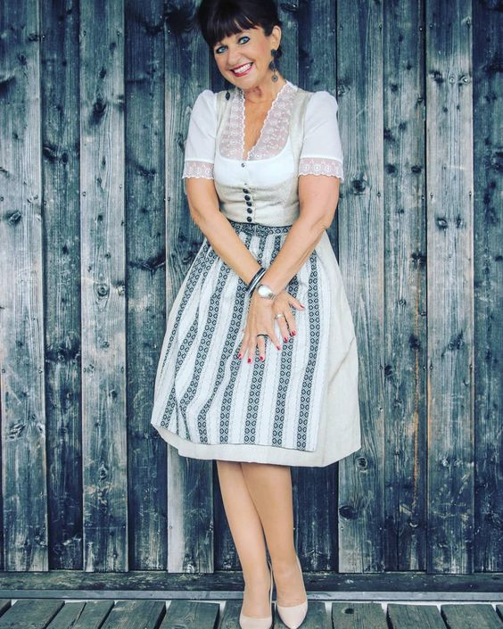 Top of the World Style winner Martina Berg of Lady 50 Plus in a super chic and sexy dirndl