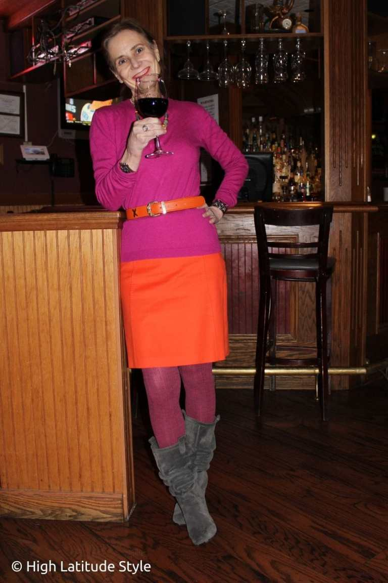 How to Make an Entrance with an Orange Skirt