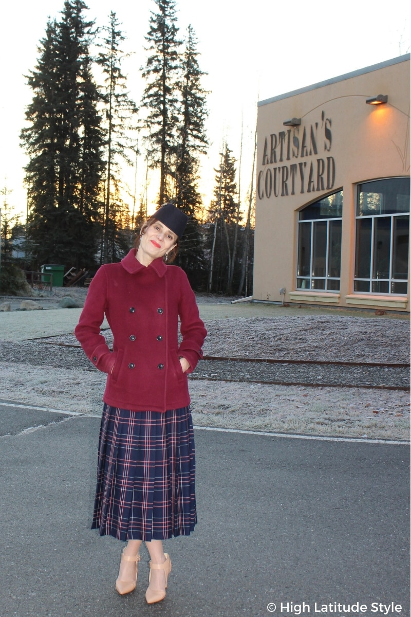 See how to create great fall style with a plaid skirt