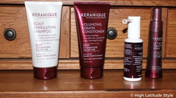 #keranique shampoo conditioner serum spray