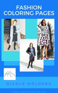 … 3, 2, 1, 0 Launch of my fashion coloring e-book (content & example pages)