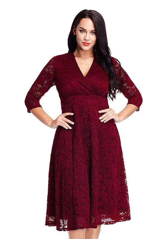#Bohemianstyle plus size shortromantic lace faux wrap for a date