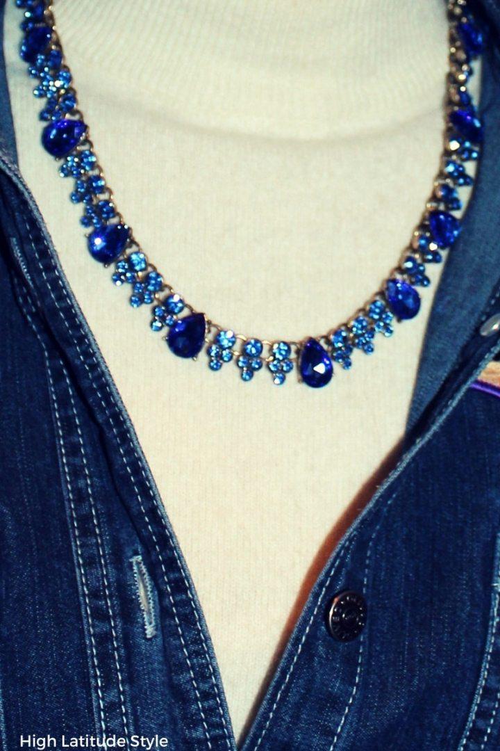 #jewellery serenity statement costume jewelry with denim