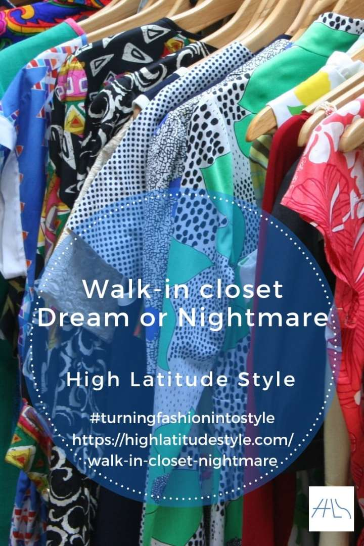 walkin closet dream or nightmare mixed prints