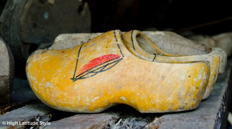 #ethnicshoes Painted Dutch wooden shoes