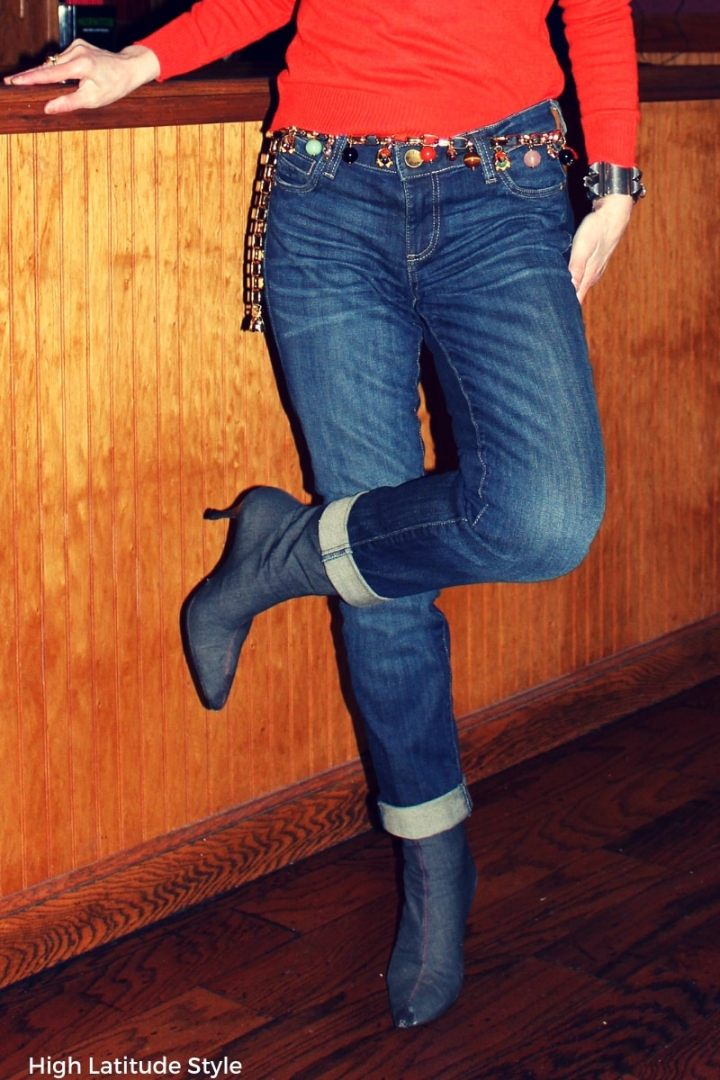 cool jean with charm belt