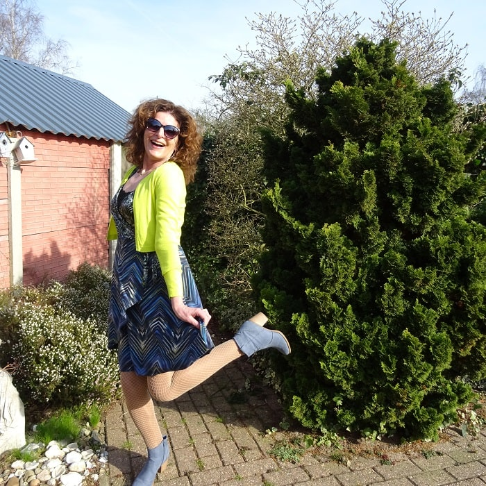 Top of the World OOTD Readers' Fav Nancy Baten wearing trendy fishnets