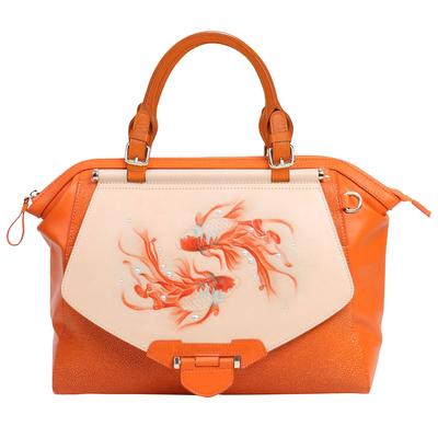 orange Bellorita large fish satchel