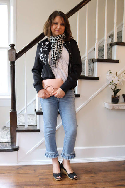 Top of the World Style Winner Amy Johnson of Amy's Creative Pursuits in ruffle hem jeans