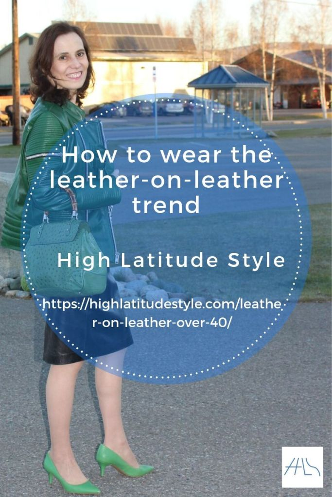how to wear the leather-on-leather trend post flyer