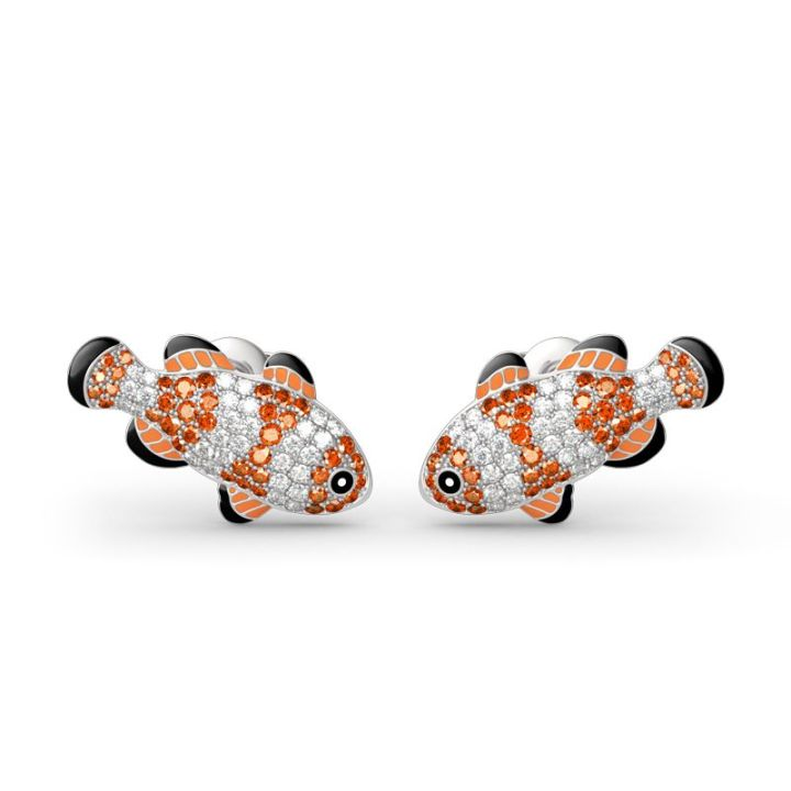 Clownfish nemo stud earrings