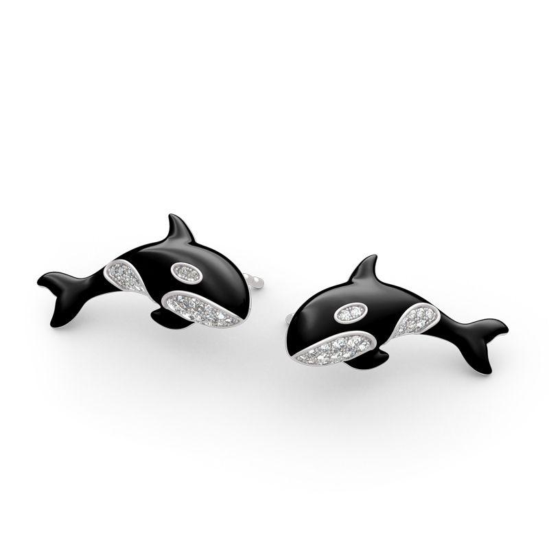 Orca killer whale studs