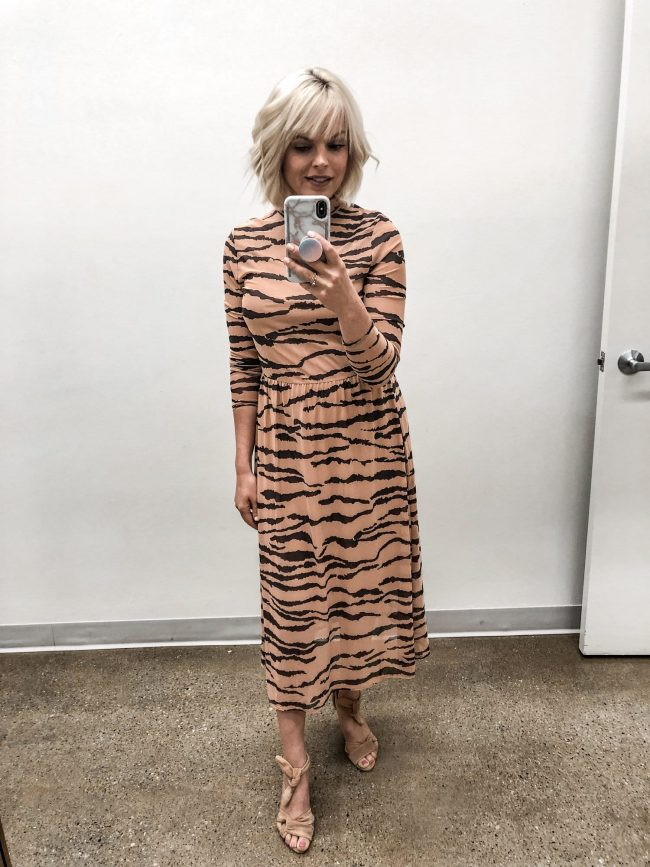 Top of the World OOTD My Fav Johanna Grunge in tiger print dress