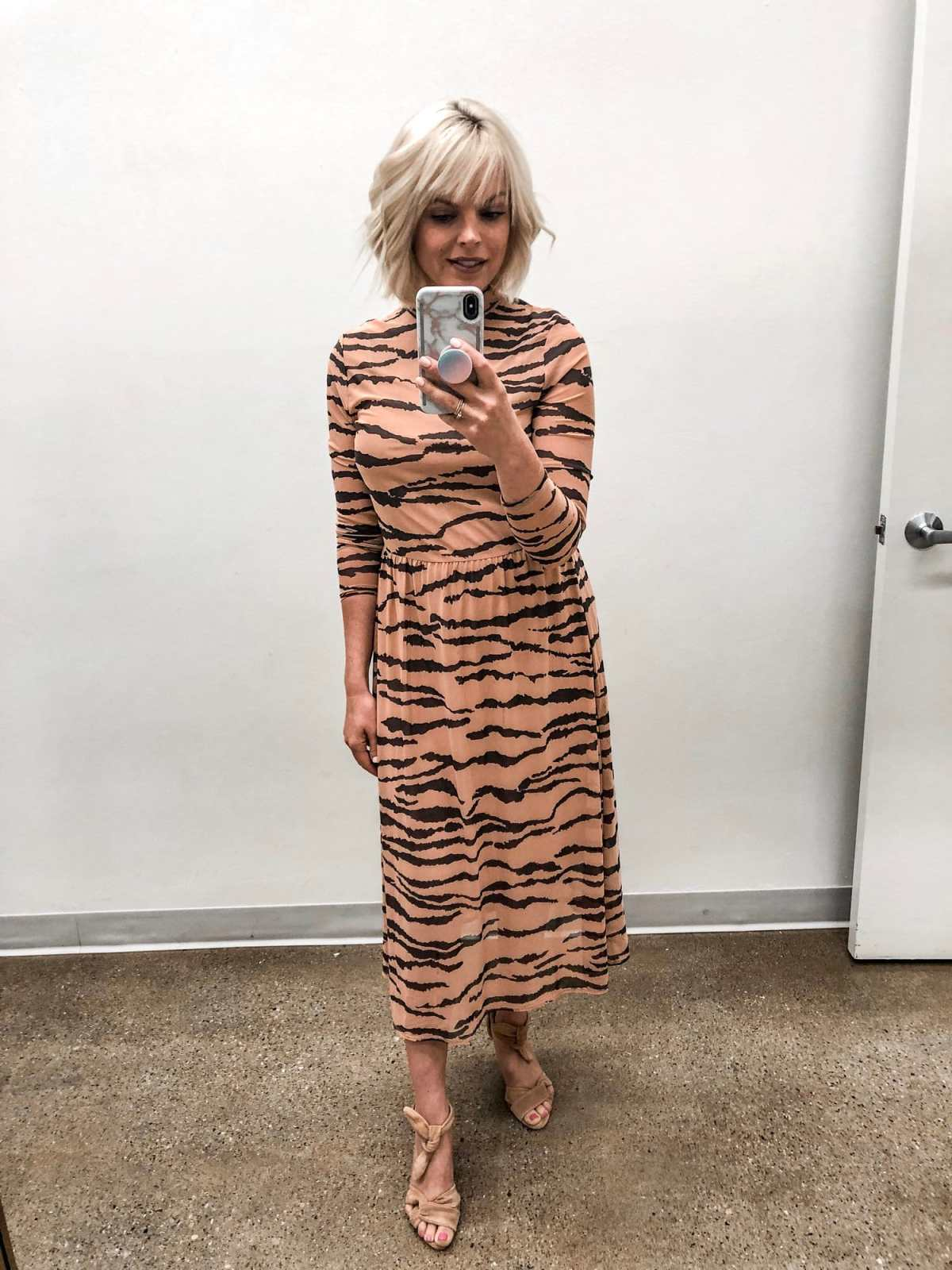 Top of the World OOTD My Fav Johanna Grunge in tiger print dress