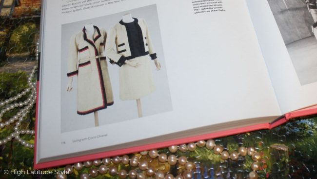 Photo of page showing classic famous Chanel designs