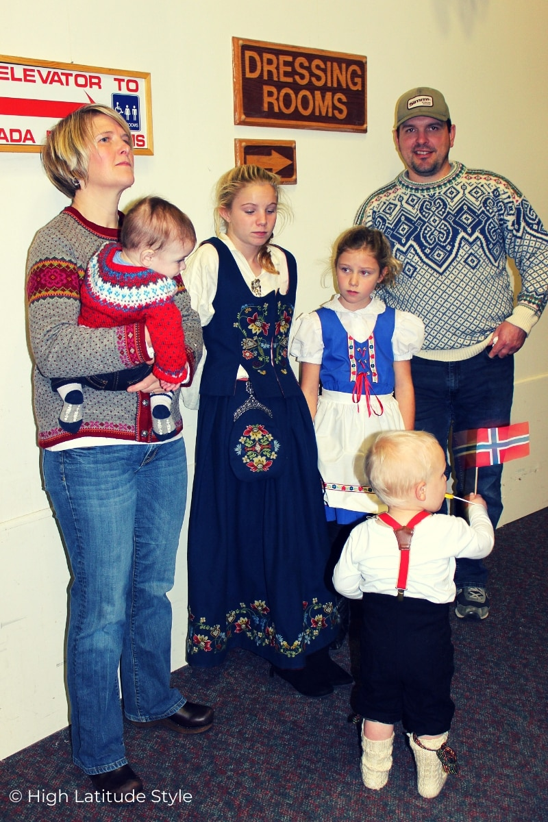 Norwegian outfits at Fairbanks international friendship day