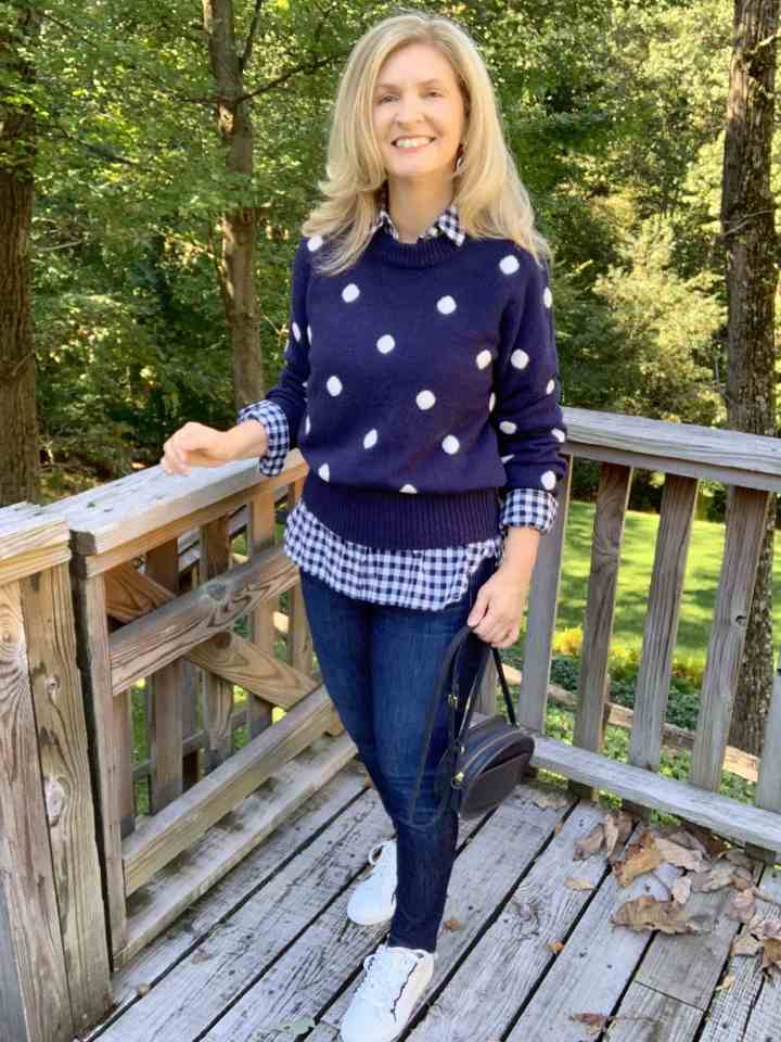 Top of the World OOTD My Fav Julie in blue and white Casual Friday look