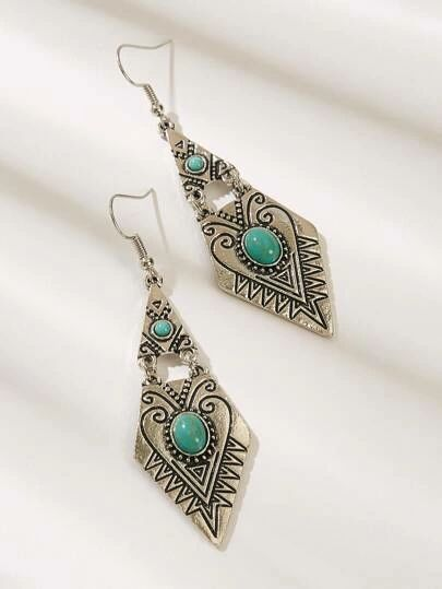 American Native inspired Shein Bohemian drop earrings