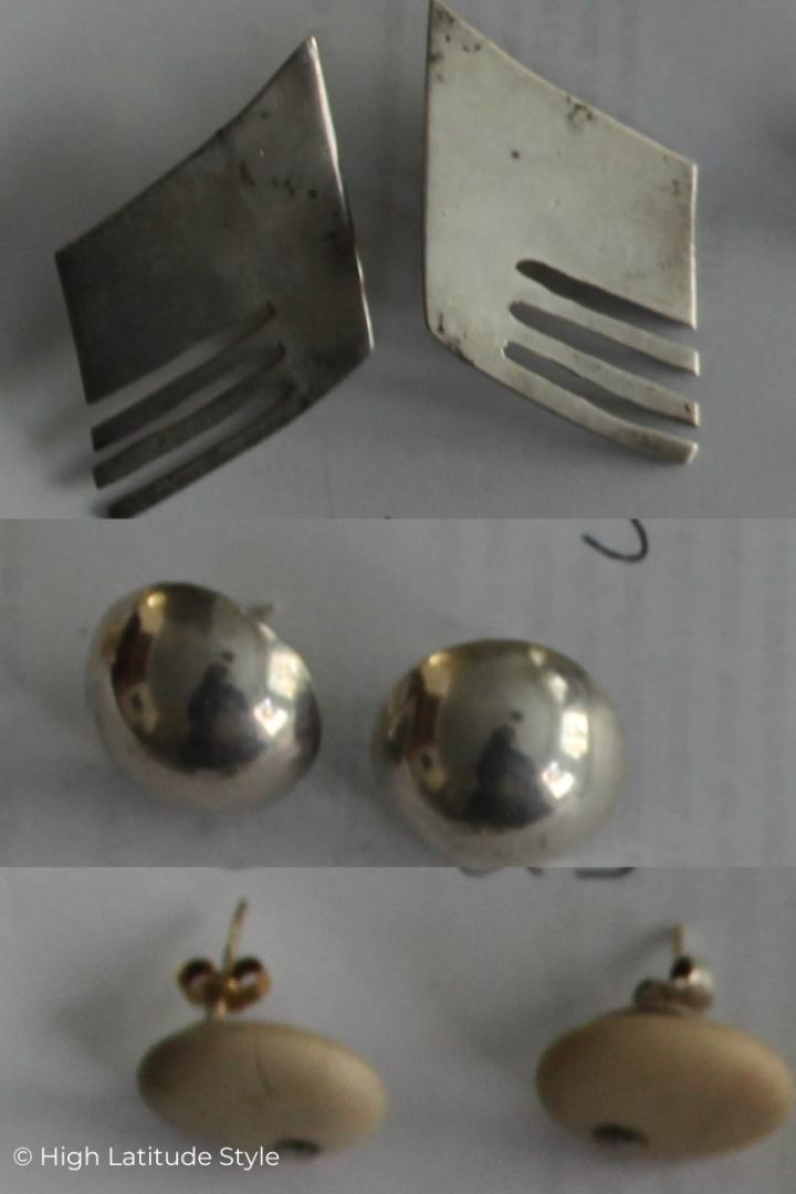 Sterling silver studs made by me