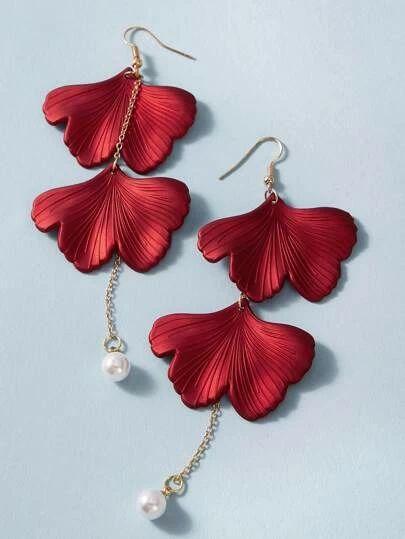 Shein petal drop earring