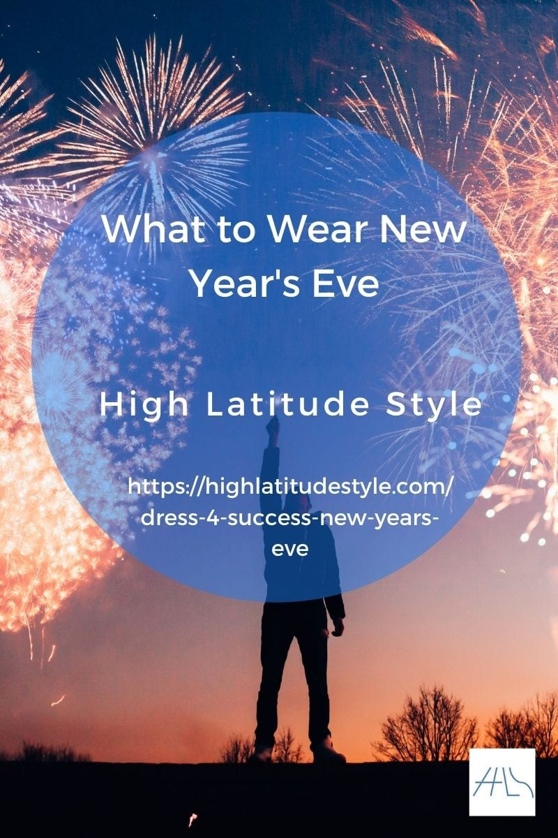 what to wear NYE post banner with person and fireworks