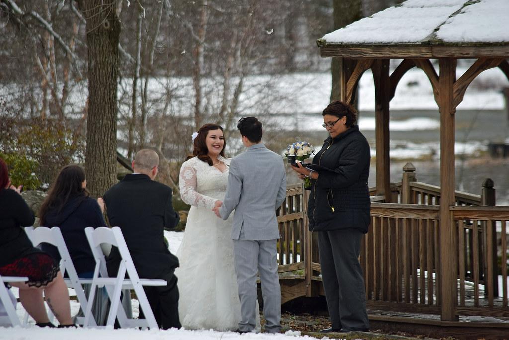 winter outdoor nuptials