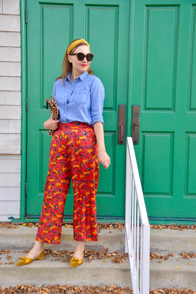 Top of the World OOTD My Fav Katie of Hello Katie Girl blog in colorful California Casual look
