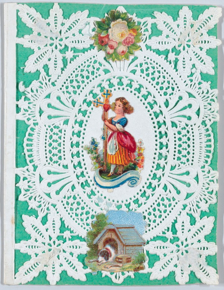 Historic Valentin card by Esthere Howland Gift of Mrs. Richard Riddell, 1981