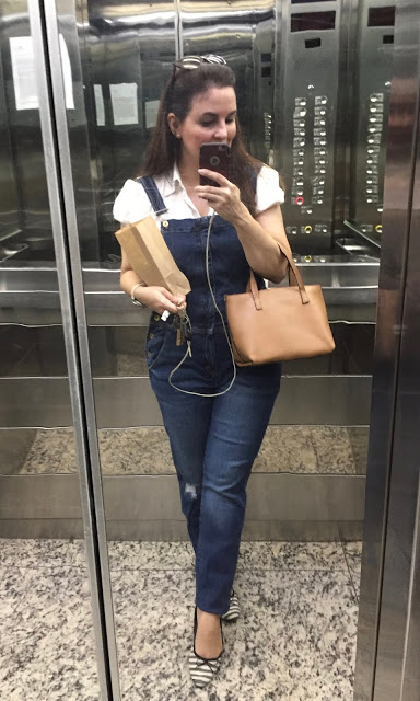 Top of the World OOTD Readers' Fav Lorena of My Everyday Wear in tight denim jumper