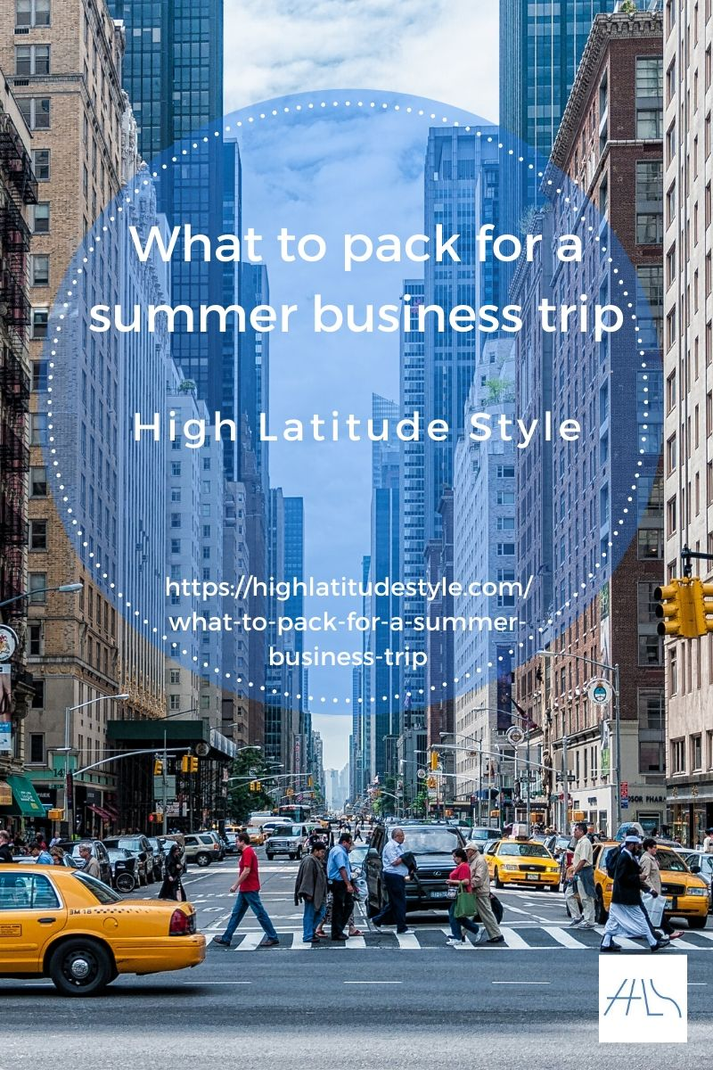 packing list for summer business trip