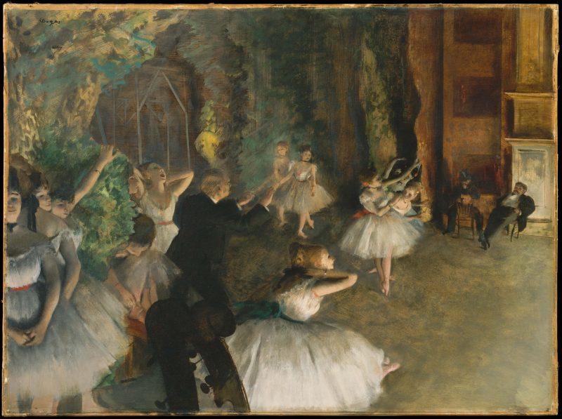 ballet on stage by Edgar Dejas