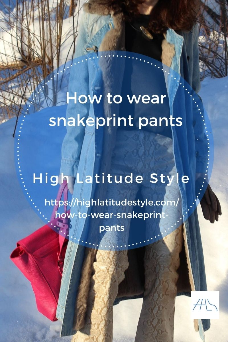 how to wear snake print pants post flyer