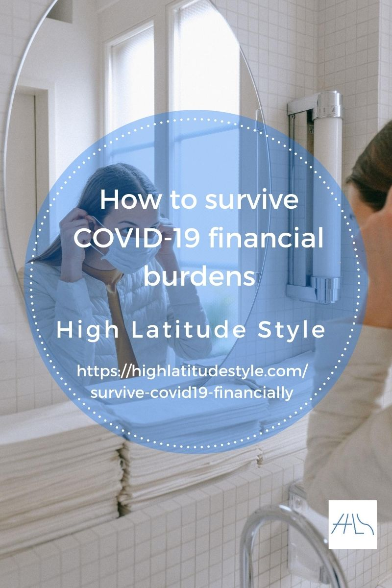 woman with mask on post banner for how to survive COVID-19 financial burdens