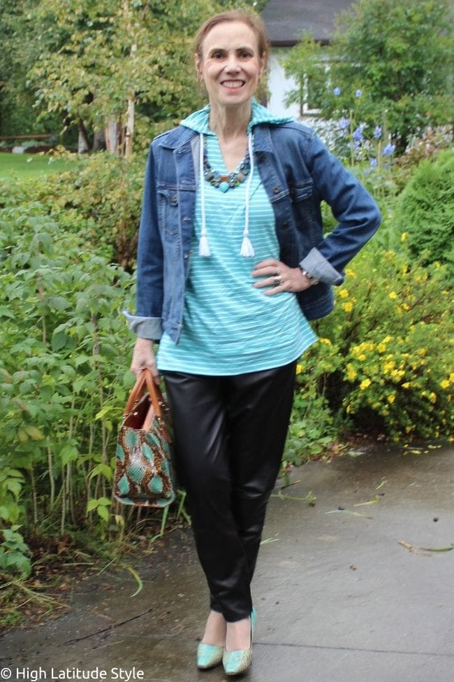 summer shirt hoodie denim jacket leather jogger transitional look