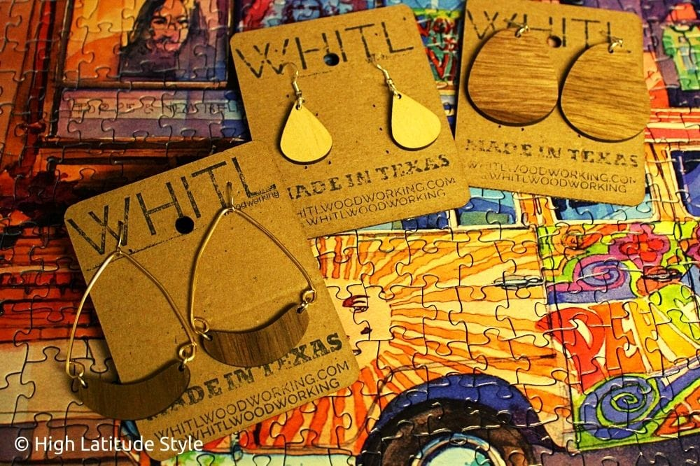 Sustainable jewelry | WHITL Woodworking wood earrings review